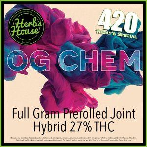 Herbs House 420 Phat Panda OG Chem Preroll