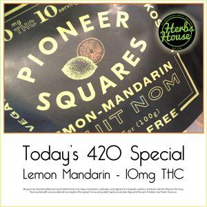 Herbs House 420 Lemon Pioneer Squares