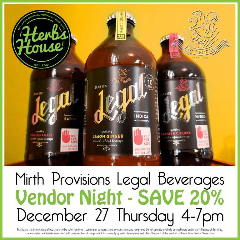 Herbs House Mirth Provisions Vendor Night