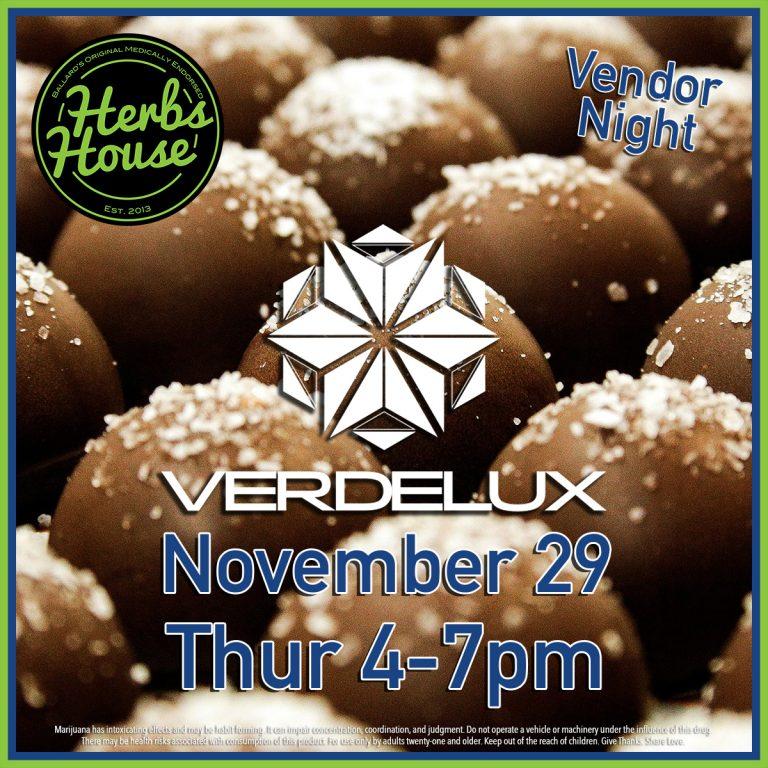 Verdelux Herbs House Vendor Night 2018