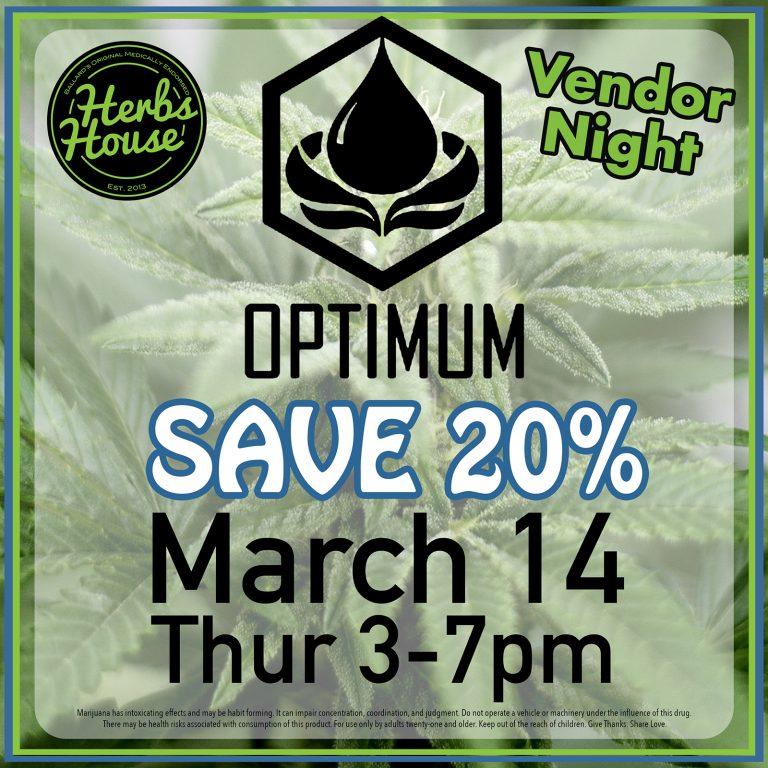 Herbs House Vendor Night Optimum March 14 2019