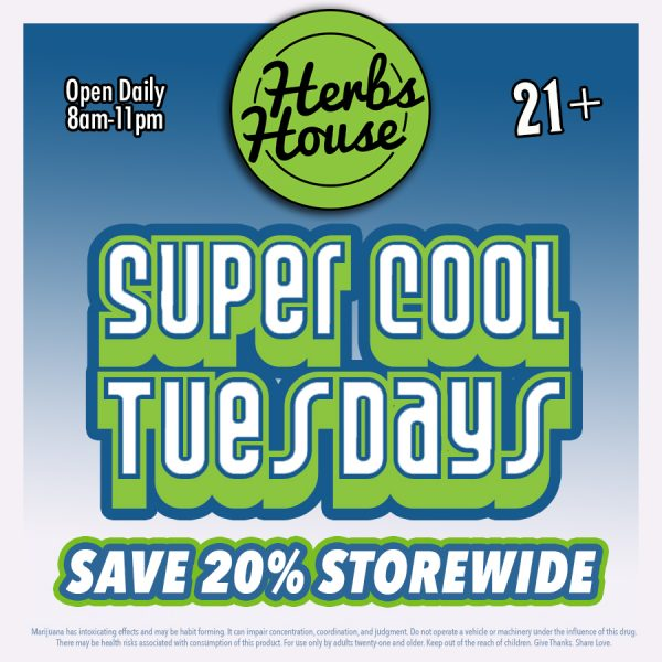 Super Cool Tuesdays Save 20%