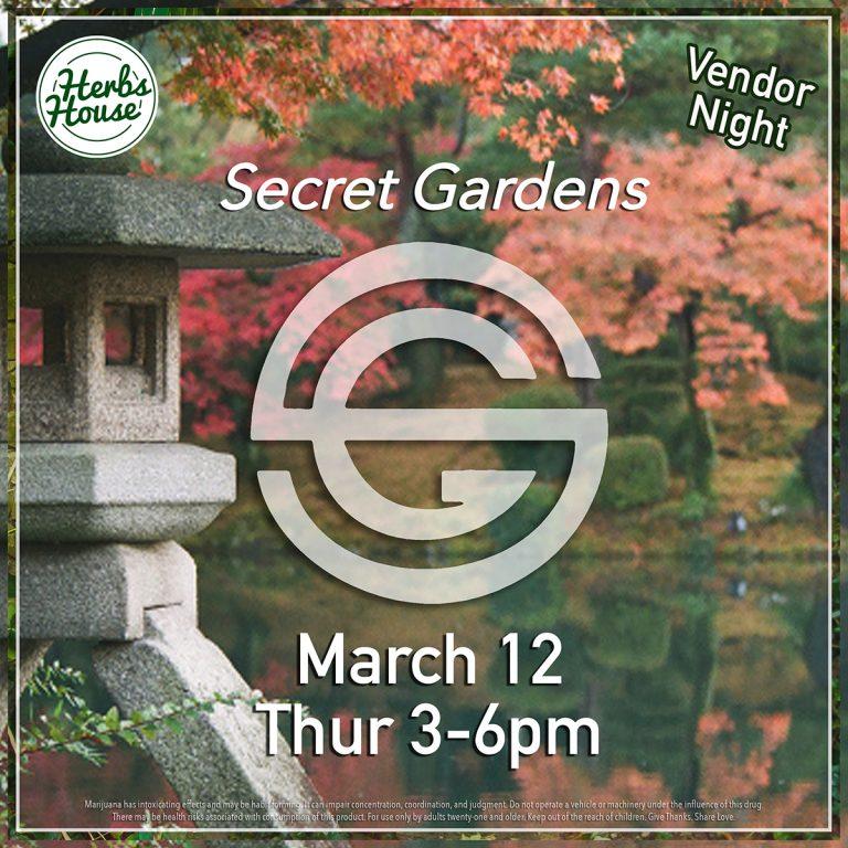 Secret Gardens March Vendor Night