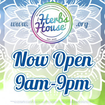 Now Open to Serve You 9am-9pm Daily