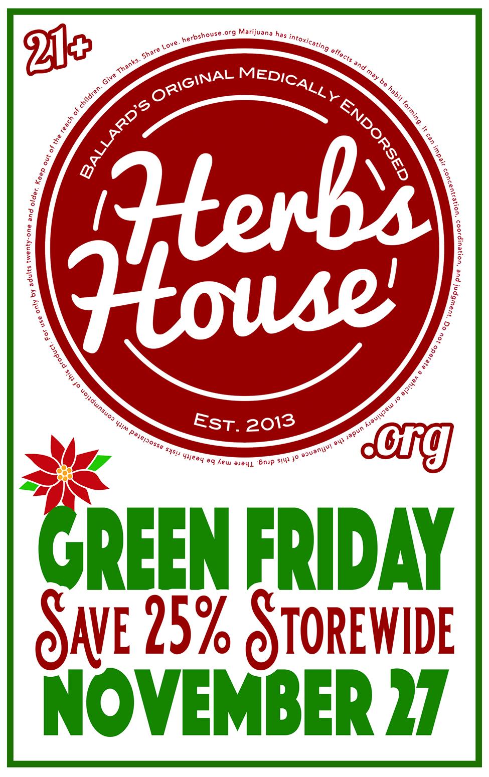 Nov 27 Green Friday Sale