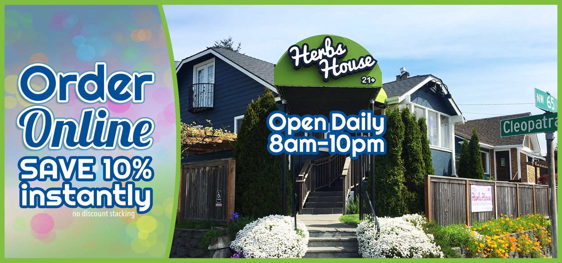 Welcome to Herbs House Open 8am-10pm Order Online