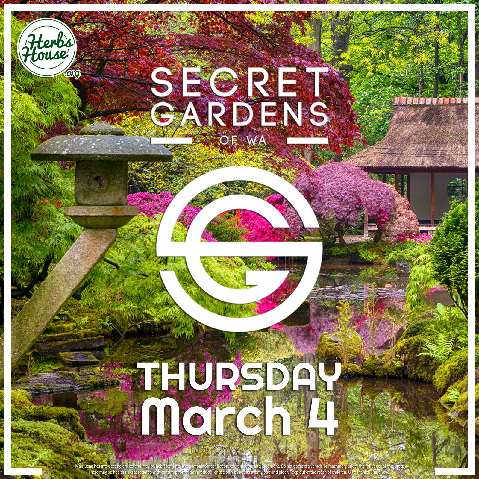 Secret Garden March 4 Featured Vendor SAVE 20%