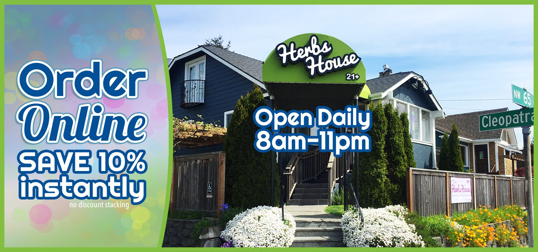 Welcome to Herbs House Open 8am - 11pm