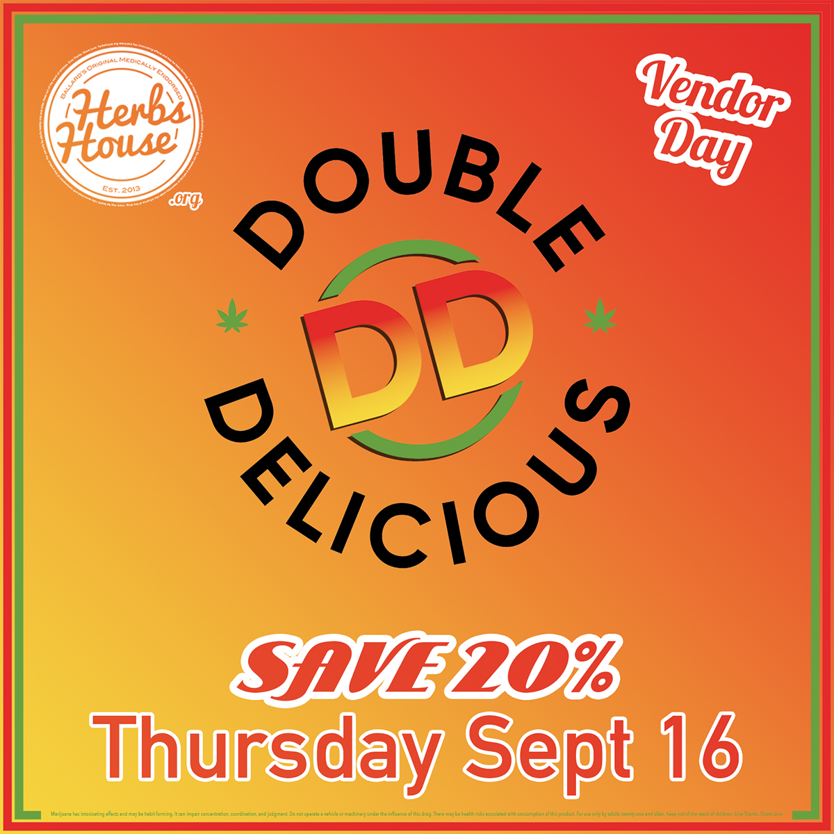 Double Delicious SAVE 20% Sept 16